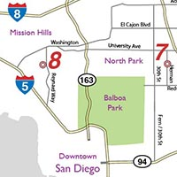 map to stop 9 of San Diego Pottery Tour