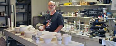 Mike Sisson in his studio