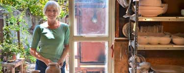 Julie Thompson in her studio.