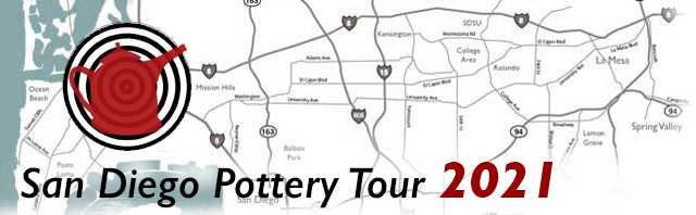 San Diego Pottery tour icon plus map header