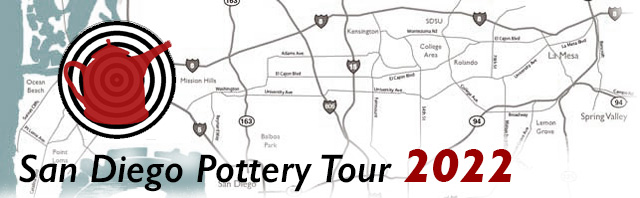 SD Pottery Tour title and map heading